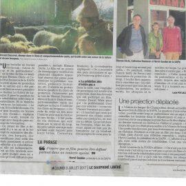 Projection de notre film sur le Loup et le Pastoralisme